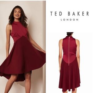 🌹TED BAKER: Kandal Wine High-Low Dress
